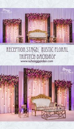 Top 24 Most Dazzling Wedding Stage Decoration That You Haven't Seen Reception Stage Decor, Wedding Backdrop Design, Desi Wedding Decor, Wedding Hall Decorations, Wedding Stage Design, Rustic Wedding Backdrops, Wedding Reception Backdrop, Wedding Mandap, Arch Wedding