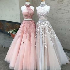 best=Sexy Two Piece Hot Neck Tulle Long Prom Dress with Appliques Cheap Evening Dress , from the ever-popular high-low prom dresses, to fun and flirty short prom dresses and elegant long prom gowns. Prom Dresses Two Piece, Open Back Prom Dresses, Formal Dresses For Teens, Cute Prom Dresses, Cheap Evening Dresses, Homecoming Dresses, Dress Formal, Long Dresses, Elegant Dresses