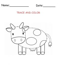Cow spots pattern. Use the printable outline for crafts