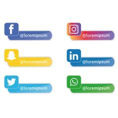 Social media icons set Gratis PNG y Vector Banner Social Media, Social Media Buttons, Social Media Apps, Social Media Design, Vintage Grunge, Clipart, Icon Set, Facebook Icon Png, Social Media