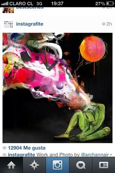 Pintura abstracta, artista desconocido, Instagram
