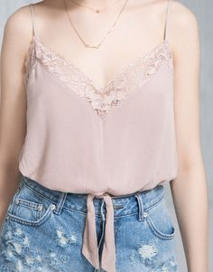 KNOTTED LINGERIE TOP - PACIFIC GIRLS - WOMAN - PULL&BEAR Greece