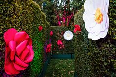 Painting The Roses Red at an Alice in Wonderland-Inspired Vow Renewal Event Themes, Event Decor, Disneyland Birthday, Painting The Roses Red, Estilo Disney, Alice In Wonderland Wedding, Enchanted Garden, Disney Style, Disney Inspired