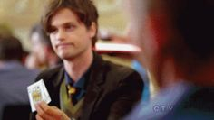 """When he did a card trick, and for some reason it was adorable: 