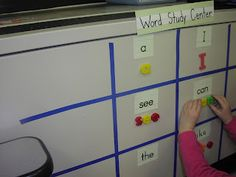 Keen On Kindergarten: Alphabet & Sight Word Practice. This can be done on small white boards for individual practice Miss Kindergarten, Kindergarten Language Arts, Kindergarten Writing, Kindergarten Literacy, Literacy Centers, Literacy Stations, Work Stations, Learning Stations, Reading Centers