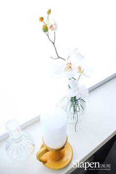 Mooie boxsprings bij www.slapenonline.nl #lookbook #boxsprings #oker #inspiratie #slaapkamer #showroom