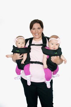 Amazon.com : Stuff 4 Multiples TwinTrexx 2 Twin Baby Carrier, Black : Camping Child Carriers : Baby