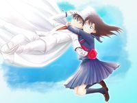 """""""Hold on Tight!"""" The motto of Kaito and Aoko's relationship XD. Credit goes to Arya032 on Deviantart.com"""