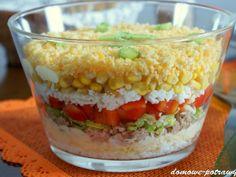 Warstwowa sałatka z tuńczyka Vegetables, Food, Essen, Vegetable Recipes, Meals, Yemek, Veggies, Eten