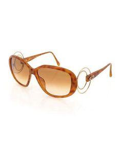 6749f13a1f D17B1 Christian Dior Gradient Oval Acetate Sunglasses