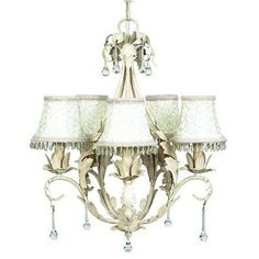 Jubilee Collection Caesar Antique Ivory Five Light Mini Chandelier With Smock And Dangle Ivory Chandelier Shades 7703 2317 Chandelier Bedroom, Mini Chandelier, Chandelier Shades, Chandelier Ideas, Chandeliers, Bath Light, Baby Furniture, Art Decor, Home Decor