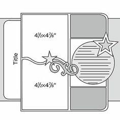 "12x12"" Scrapbook Page Sketches"