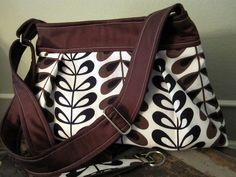 Kenyan Tea Leaves Pleated  Bag including Matching by sunsetdreams, $36.00