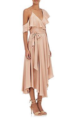 Zimmermann Silk Satin Wrap Dress - Dresses - 505017631
