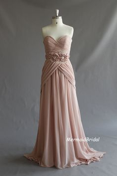 Pretty Handmade Pearl Pink Sweetheart Long Prom Gown With Train c686873971fc