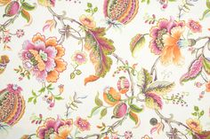 Mood Fabrics : New York Fashion Designer Discount Fabric | HC18014 Off-White/Multi-Color Floral Canvas