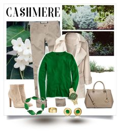 """""""Cozy Cashmere Sweater"""" by dezaval ❤ liked on Polyvore featuring MICHAEL Michael Kors, Gianvito Rossi, Abercrombie & Fitch, J.Crew, Decree, Jennifer Alfano and CLP Jewelry"""
