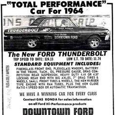 1964 Ford Thunderbolt ad
