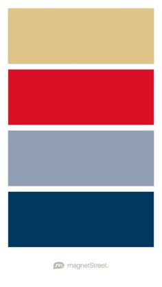 Gold, Scarlet, Shale, and Navy Wedding Color Palette - custom color palette created at MagnetStreet.com