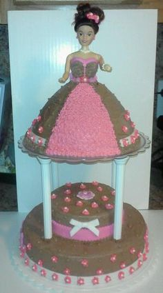 Barbie revolving cake
