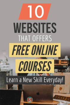 Are you looking for websites that offer free courses? Websites where you can learn any skill you want without paying any money? Check out 10 Educational websites that offers free online courses. Best Online Courses, Free Courses, Online Websites, Learn A New Skill, Skills To Learn, Study Skills, Best Educational Websites, Learning Websites, Websites For Students