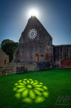 Sunlit Reflection at Mdryburgh Abbey, Scotland by Andrew Wood