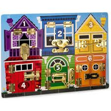Shop Melissa & Doug - Latches Board at Peter's of Kensington. View our range of Melissa & Doug online. Why in the world would you shop anywhere else for Melissa & Doug? Teaching Colors, Teaching Kids, Latch Board, Orange Fish, Animal Help, Activity Board, Developmental Toys, Building For Kids, Colorful Animals