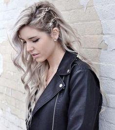 Long Wavy #Hairstyle Side Braids For Long Hair, Long Wavy Hair, Side Braid With Curls, Messy Hair, Long Locks, Frizzy Hair, Loose Curls, Long Curly, Braids Medium Hair