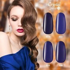 "5 Me gusta, 0 comentarios - Crystal Nails España (@crystalnailsespana) en Instagram: ""Autumn colors: 𝐃𝐀𝐑𝐊 𝐁𝐋𝐔𝐄 🍁🍂 www.crystalnailstienda.es"" Crystal Nails, Nail Polish, Lipstick, Color Azul, Crystals, Instagram, Beauty, Shades Of Blue, Blue Nails"