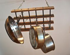 Pot Rack, Reclaimed Wood Pot Rack
