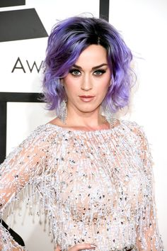 All The Best Beauty Looks At The 2015 Grammy Awards #refinery29  http://www.refinery29.com/2015/02/82012/best-makeup-grammy-awards-2015#slide-5  Katy Perry   We were all stunned by Katy's brand-new, lavender hair color on the red carpet. But, her makeup look was also gorgeous. For her full, beautiful lashes, Katy's makeup artist Jake Bailey swept on CoverGirl Full Lash Bloom.