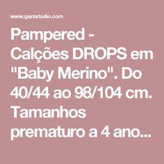 """Pampered - Calções DROPS em """"Baby Merino"""". Do 40/44 ao 98/104 cm. Tamanhos prematuro a 4 anos - Free pattern by DROPS Design"""