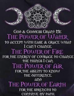 Book of Shadows: #BOS Power of the Elements page.