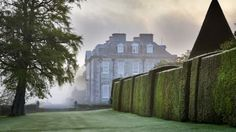 The mansion at Anthony, viewed through the early morning mist~ Cornwall