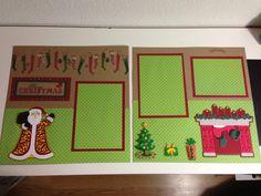 Christmas layout using my  cricut