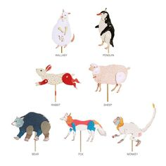 DIY animal paper puppets by Furze Chan