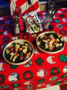 Kale and haloumi salad