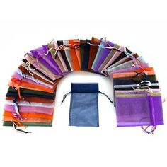 """48 Organza Drawstring Pouches Gift Bags Assorted Colors 4x5""""  FindingKing  $6.95"""