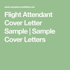flight attendant cover letter sample sample cover letters