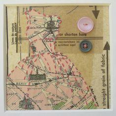 paris old paper - map dress