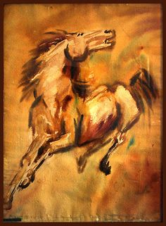 mf hussain paintings - Google Search