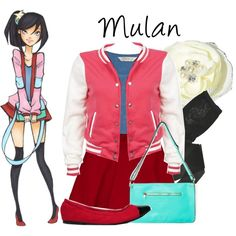 """Disney High: Mulan"" by disneykid95 on Polyvore"