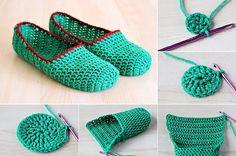 DIY Simple Crochet Slippers