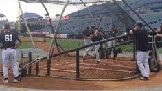 #Mark Teixeira during batting practice