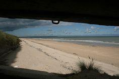 Through the eyes of a bunker...Utah beach, France