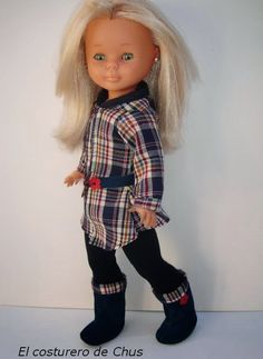 "Vestidos Para Nancy ""El Costurero De Chus"": Coleccion Chus Jeans Nancy Famosa, Nancy Doll, Eureka Moment, Girl Doll Clothes, Doll Accessories, American Girl, Doll Dresses, Baby Doll Clothes, Doll Patterns"