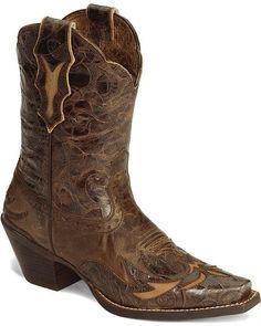 Ariat Brown Dahlia Wingtip Cowgirl Boot - Snip Toe