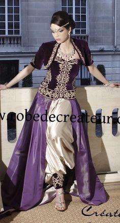 Algerian fashion: purple  karakou