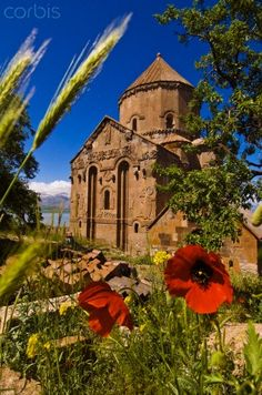 10th century Armenian Cathedral of the Holy Cross on Akdamar Island, Lake Van, ... Armenian church, Akdamar island, Lake Van, Anatolia, Turkey. Built of pink volcanic tufa by the architect-monk Manuel during the years 915-921, this medieval cathedral of the Armenian Apostolic Church was built as a palatine church for the kings of Vaspurakan.