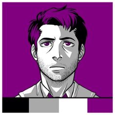 Castiel in Asexual flag colors. #castiel #supernatural #asexuality